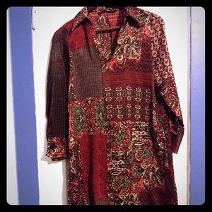 Zara Morrocan Boho-inspired silky dress